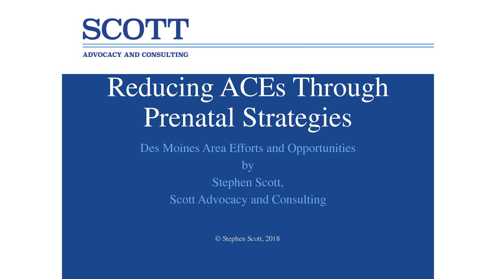 Reducing ACEs Through Prenatal Strategies